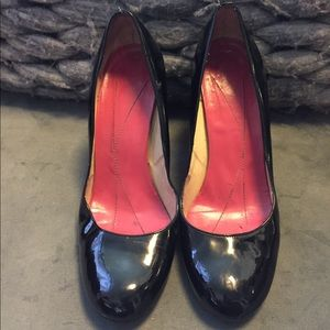 Size 9.5 Kate Spade Black Patent Leather Heels